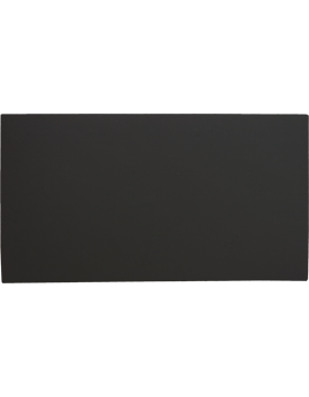 FT-103-C2, Black 2 1/2in x 4 1/2in Blank Leather with out fastener