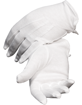 White Sure Grip Gloves with Rubberized Palm (G-103)