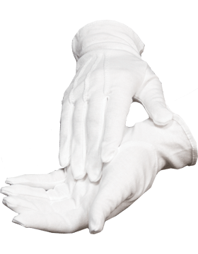White Long Cotton Glove with No Snap