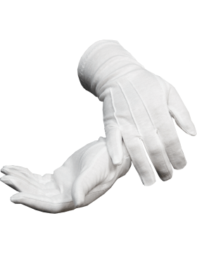 White Long Sure Grip Gloves (G-107) small