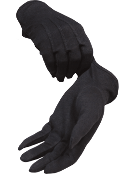 Black Gloves with No Snap (G-201)