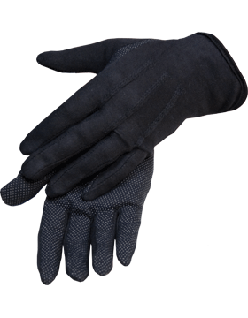 Black Sure Grip Gloves with Rubberized Palm (G-203)
