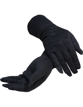 Black Long Cotton Gloves with No Snap