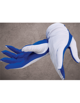Flash Gloves (G-302A) Royal Blue and White