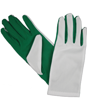 Flash Gloves (G-302E) Kelly Green and White