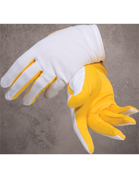 Flash Gloves (G-302J) Gold and White