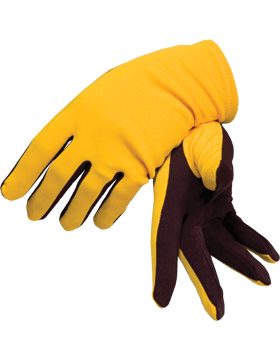 Flash Gloves (G-303D) Gold with Maroon Palm