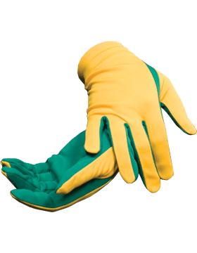Flash Gloves (G-303E) Gold with Kelly Green Palm