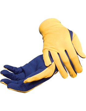 Flash Gloves (G-303F) Gold with Navy Blue Palm