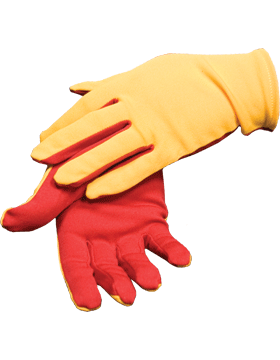 Flash Gloves (G-303H) Gold with Red Palm
