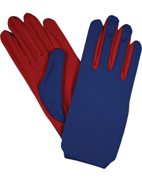 Flash Gloves (G-303K) Red and Royal Blue Palm