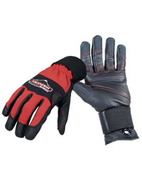 Ascender Rope/Rescue Gloves Black/Red
