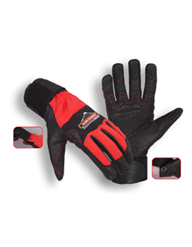 Ascender Rope/Rescue Gloves Black/Red small