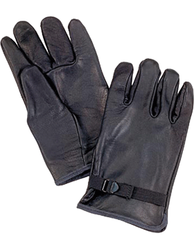 D-3A Black Leather Gloves