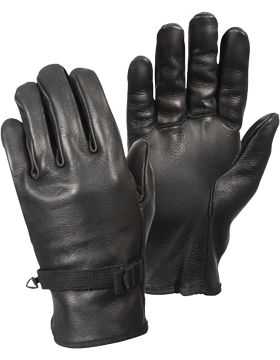 D-3A Black Leather Gloves  small
