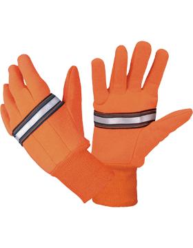 Orange Reflective Traffic Glove RTG100