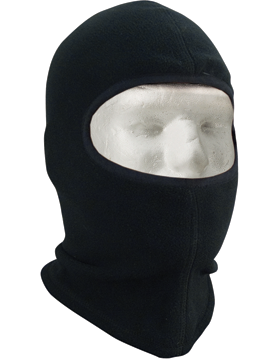Polar Fleece One HOle Balaclava Black