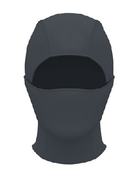 HEATGEAR HOOD - BLACK small