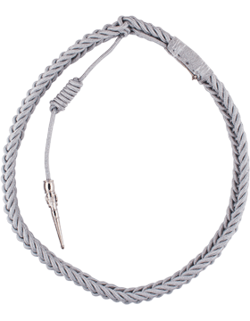 Enlisted Honor Guard Aiguillette Silver Aluminum Closed Loop Cord