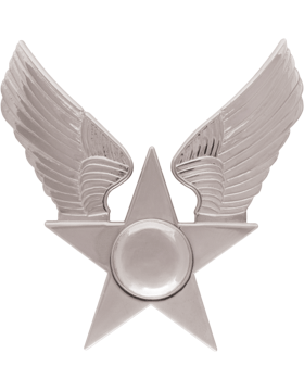 USAF Honor Guard Hat Emblem with Nickel Hap Arnold