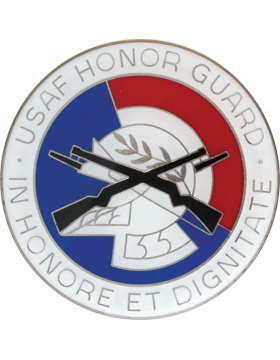 Honor Guard Enamel Finish Badge