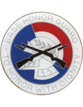 Base Honor Guard Enamel Finish Badge