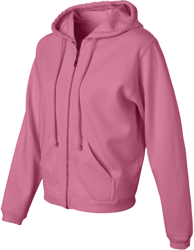 Pigment Dyed Full-Zip Hooded Sweatshirt 1598 Crunchberry