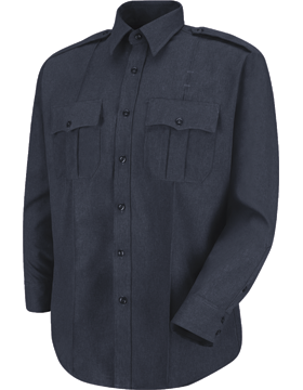 Men's Sentry L/S Shirt Dark Navy HS1150 with Zipper