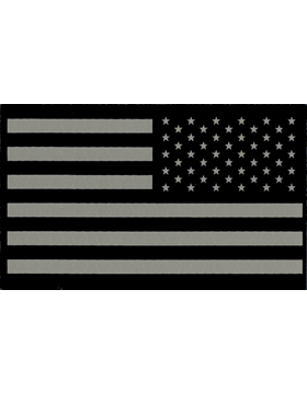 Infrared American Flag with Fastener Reverse