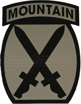 IR ACU Patch 010 Mountain Division IR-7003