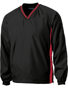 Sport-Tek® Tipped V-Neck Raglan Wind Shirt JST62