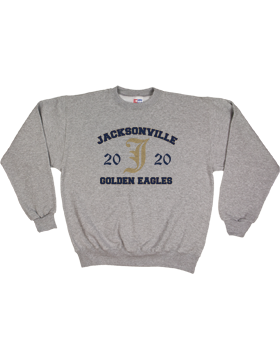 Jacksonville Eagles Medium Weight Fleece Crew Sweatshirt S2401-A