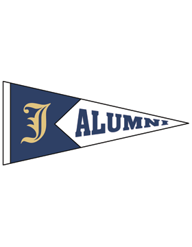 Jacksonville with Alumni Pennant Sticker