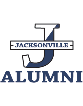 Jacksonville with Alumni Square Sticker