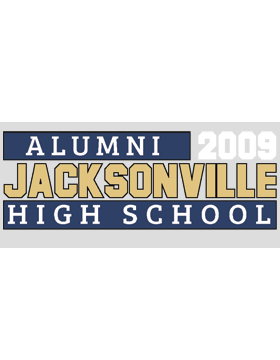 Jacksonville with Year Customizable Alumni Bumper Sticker