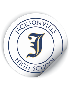 Jacksonville Eagles Round Sticker