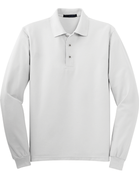 Port Authority-Long Sleeve Silk Touch Polo K500LS-100