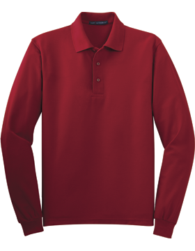 Port Authority-Long Sleeve Silk Touch Polo K500LS-301