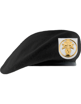 Knights of Columbus Black Unlined Beret with Badge and Patch