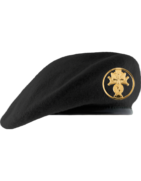 Knights of Columbus Black Unlined Beret with Badge