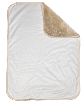 Sherpa Lined Micro Mink Baby Blanket, 30in x 40in