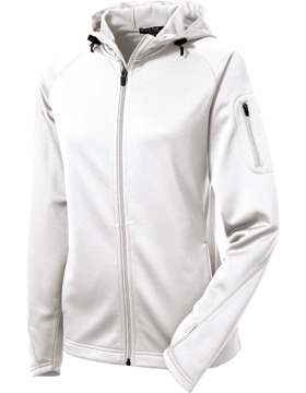 Sport Tek Ladies Tech Fleece Full-Zip Hooded Jacket L248