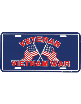L51 Vietnam War Veteran (Blue & Red) License Plate