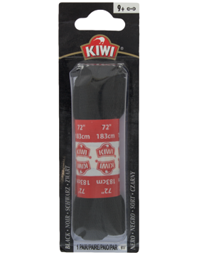 617 72in BLACK FLAT SHOE LACES