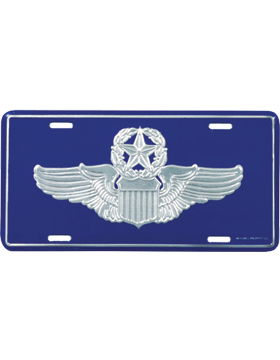 LAF06 USAF Command Pilot License Plate