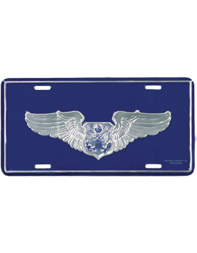 LAF12 USAF Aircrew (Officer) License Plate