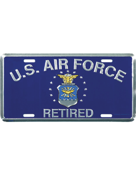 LAF19 U.S. Air Force Retired License Plate