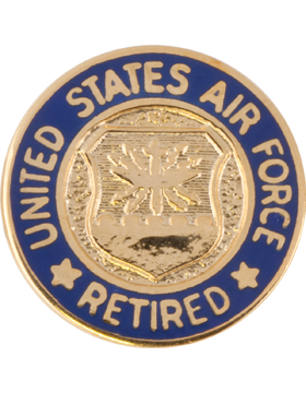 Retired Personnel, Air Force Lapel Pin