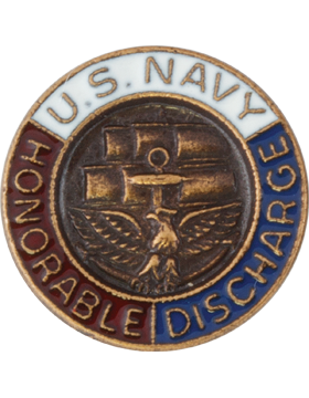 United States Navy Honorable Discharge Lapel Pin