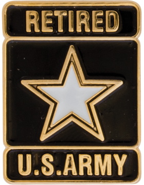 U.S. Army Retired Lapel Pin W/Army Star Lapel Pin